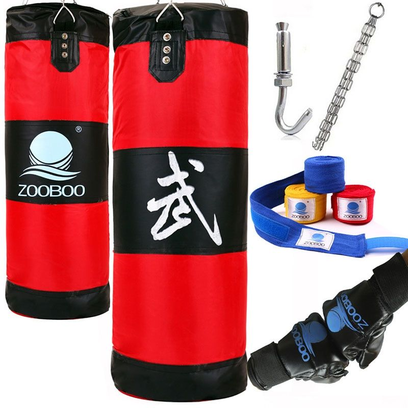 100cm Training Fitness MMA Fighter Boxing Bag Hook Hanging Bag Sport Sand Punch Punching Bag Sandbag Saco Boxeo