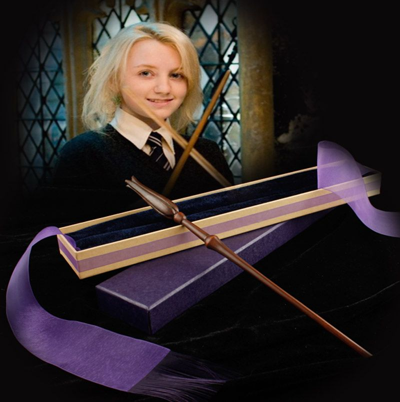 Free Shipping New style Harry Potter Luna Lovegood Magical Wand with a Gift Box Cosplay Toy children's gifts