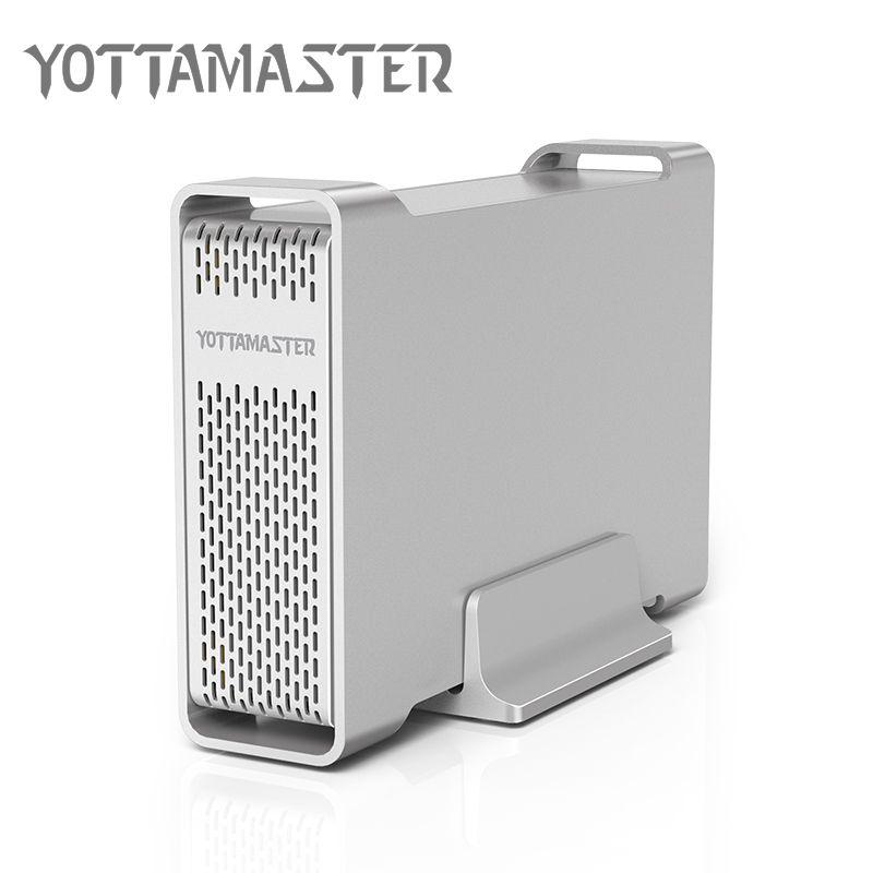 Yottamaster D35 High-end Festplattengehäuse USB 3.0 zu SATA Einzigen Bay externe HDD Docking Station für 3,5 HDD Unterstützung UASP 8 TB