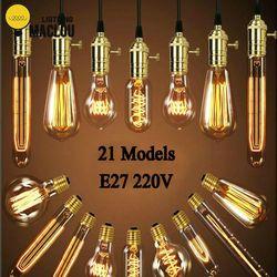 MACLOU WAmpoule 40 E27 220 V Lâmpada Retro Edison Lâmpada Do Vintage Luz Do Vintage Bulbo Edison Filamento Edison Lâmpada Incandescente de Luz lâmpada