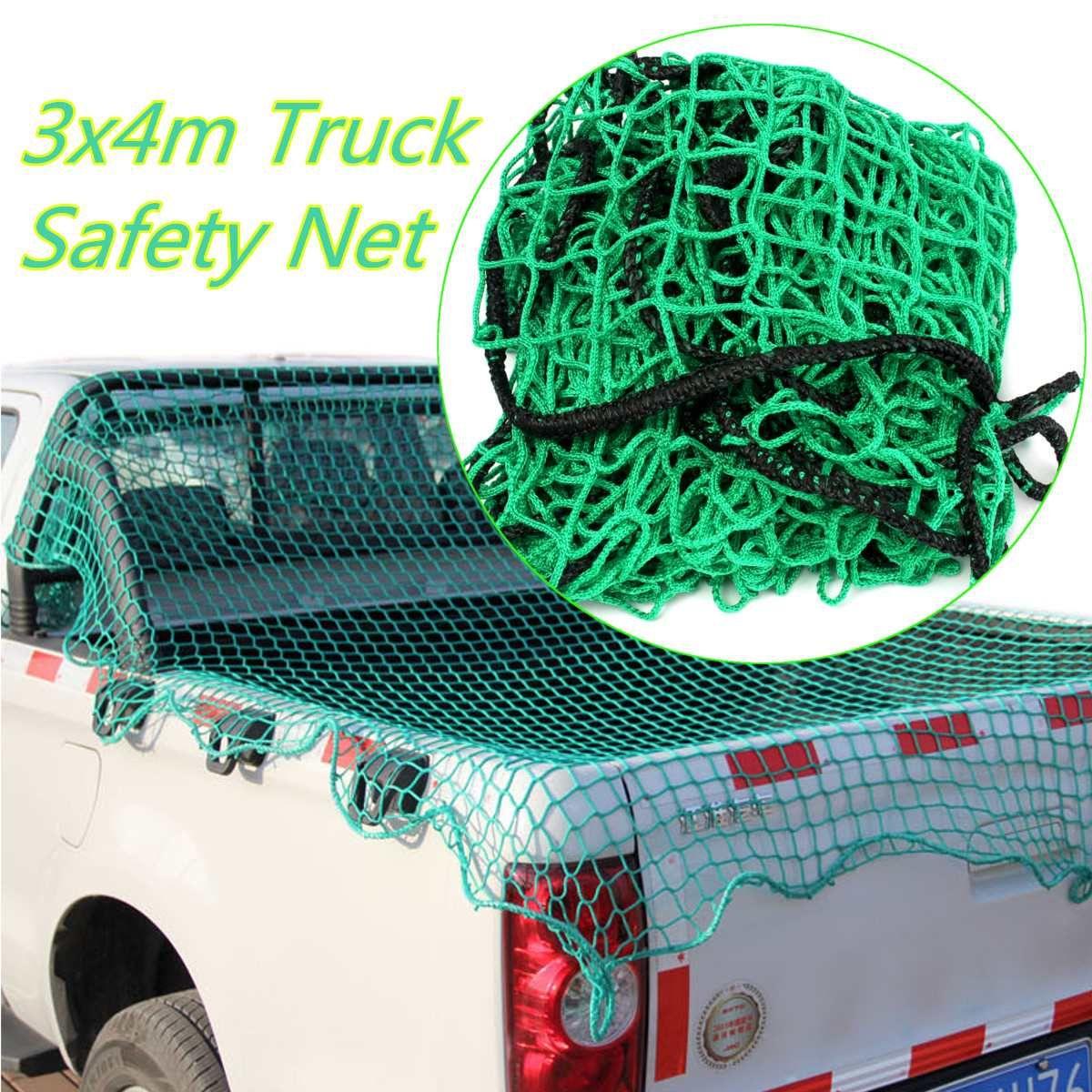 300cmx400cm Heavy   Cargo Net Pickup Truck Trailer Dumpster Car Safety Mesh Covers