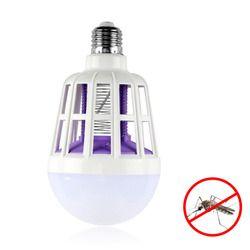 Lámpara del asesino del Mosquito 2 en 1 E27 bombilla LED trampa eléctrica asesino del Mosquito luz 220 V 15 W electrónico insecto noche lámparas