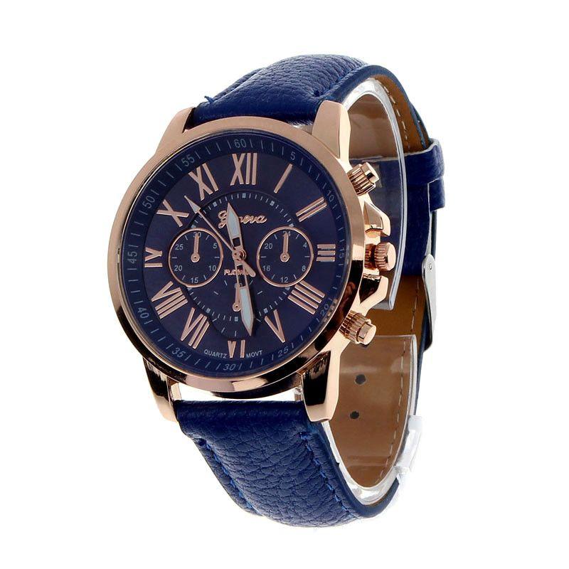 Clock Hot Selling Women Watches Quartz Roman Numerals Faux saat Leather watch women Quartz Analog Wristwatches reloj mujer