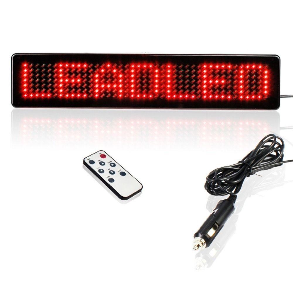 23 cm 12 v 7X41 pixels LED Signe De Voiture Télécommande Programmable Défilement Programmable Message affichage écran 7X41 pixels Diy kit