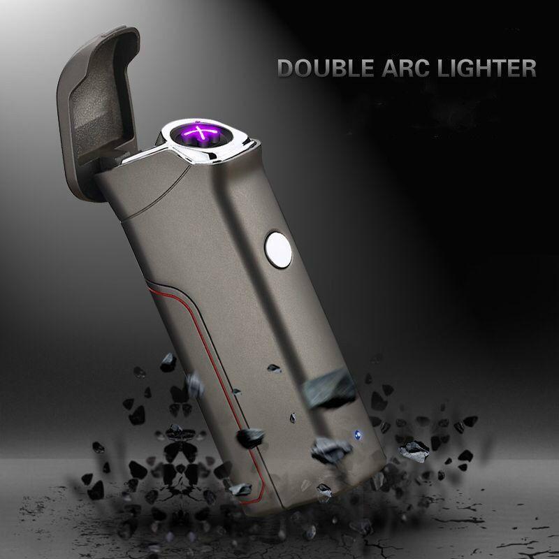 La dernière double-arc briquets USB vent-preuve personnes électronique allume-cigare nouveauté électrique allume-cigare