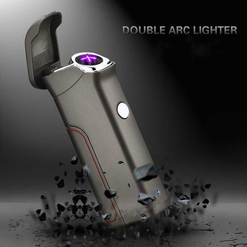 Le dernier double arc briquets USB anti-vent personnes allume-cigare électronique nouveauté allume-cigare électrique