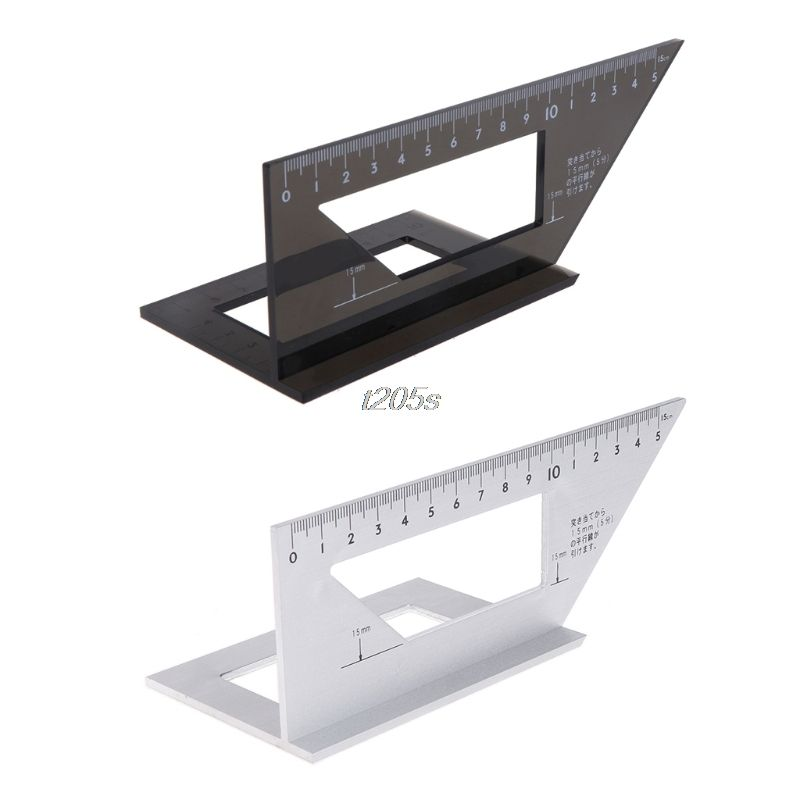 Aluminum Alloy Woodworking Ruler Multifunctional Square 45 degree 90 degree Gauge Rule T16 Drop ship