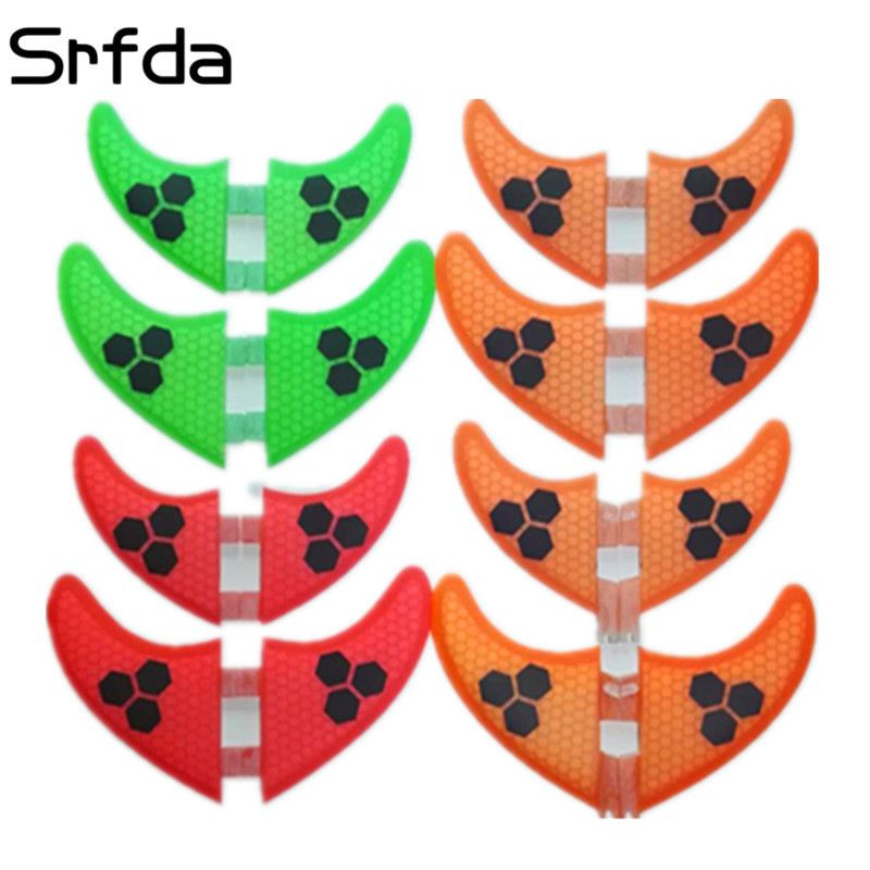 4pcs/Lot High quality surfboard FCS fins with fiberglass honey comb material for surfing fin GX G3 G5 G7 S L size quad fins
