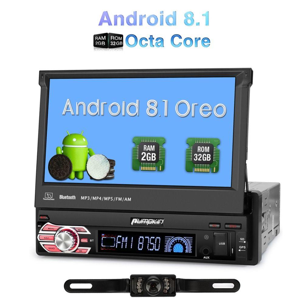 Kürbis 1 Din 7''Android 8,1 Auto Radio Keine DVD-Player GPS Navigation Octa Core 2 GB + 32 GB Auto stereo Wifi Bluetooth DAB + Steuergerät