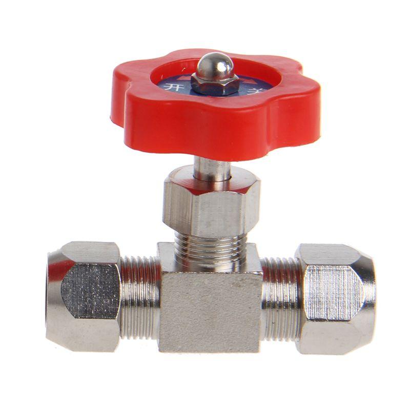 Durable Rohr Vernickelt Messing Stecker Nadelventil OD 6mm/8mm/10mm