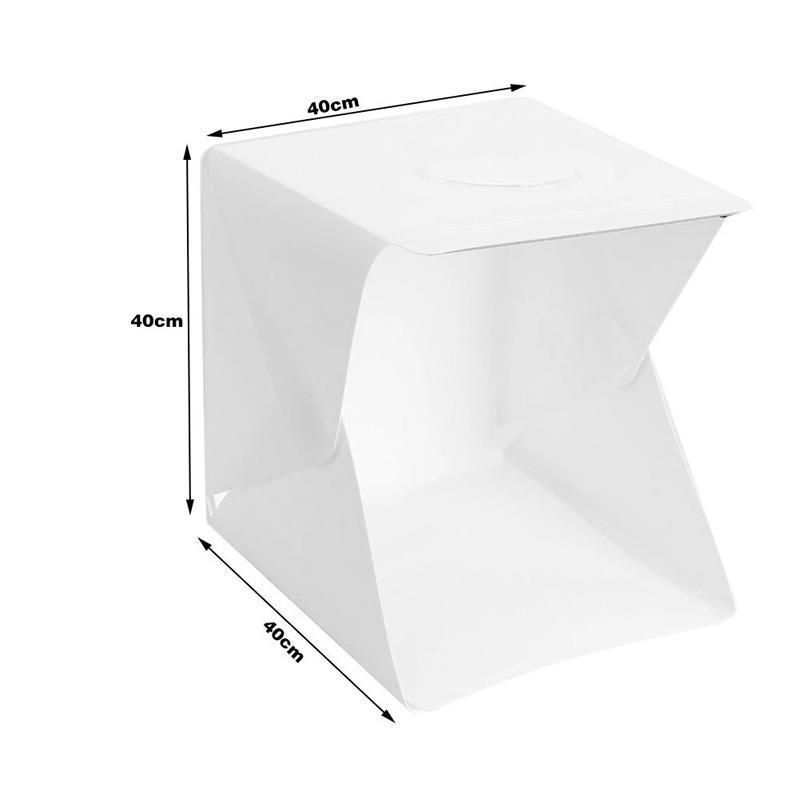 40 x 40 x 40cm Portable Folding Studio Diffuse Soft Box With LED Light Background Photo Studio box Big Size For DSLR Camera