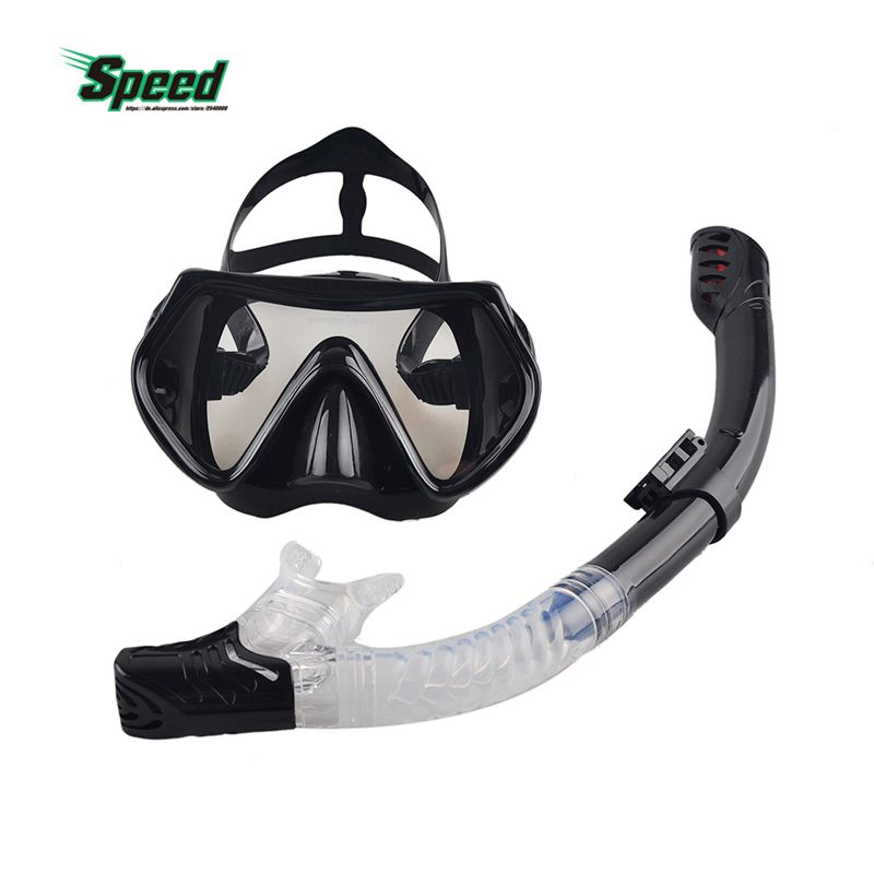 New Professional Scuba Diving Mask Snorkel Anti-Fog Goggles Glasses Set Silicone Swimming Fishing Pool <font><b>Equipment</b></font> 6 Color Adult