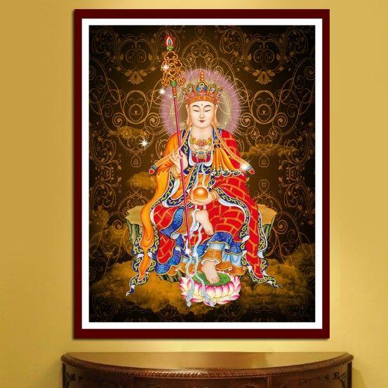 CAMMITEVER Full Diamond Mosaic Embroidery Buddha Zen Needlework Craft Gift DIY 5D Religion Series Diamond Painting Cross Stitch