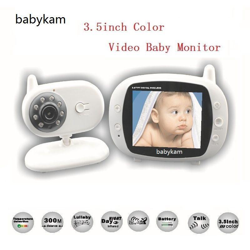 Babykam радио няня 3.5 дюймов ЖК-дисплей Температура монитор колыбельные ИК ночного видения Интерком Баба электроники видео няня