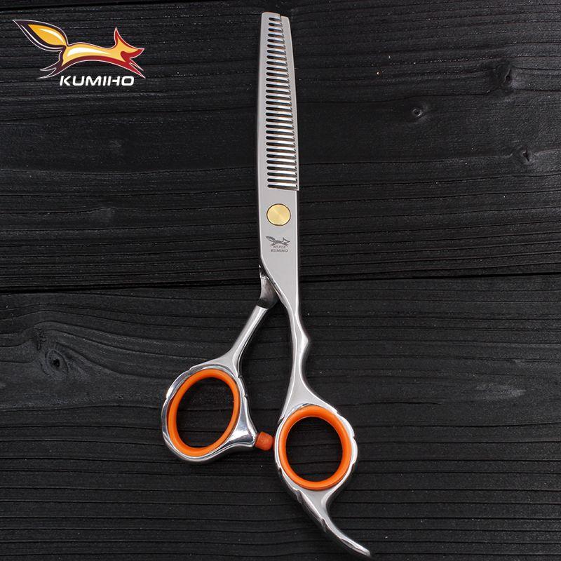 KUMIHO ciseaux amincissants 6 pouces 9cr13 acier inoxydable ciseaux à cheveux de haute qualité pour salon utilisation coiffure cisaillement