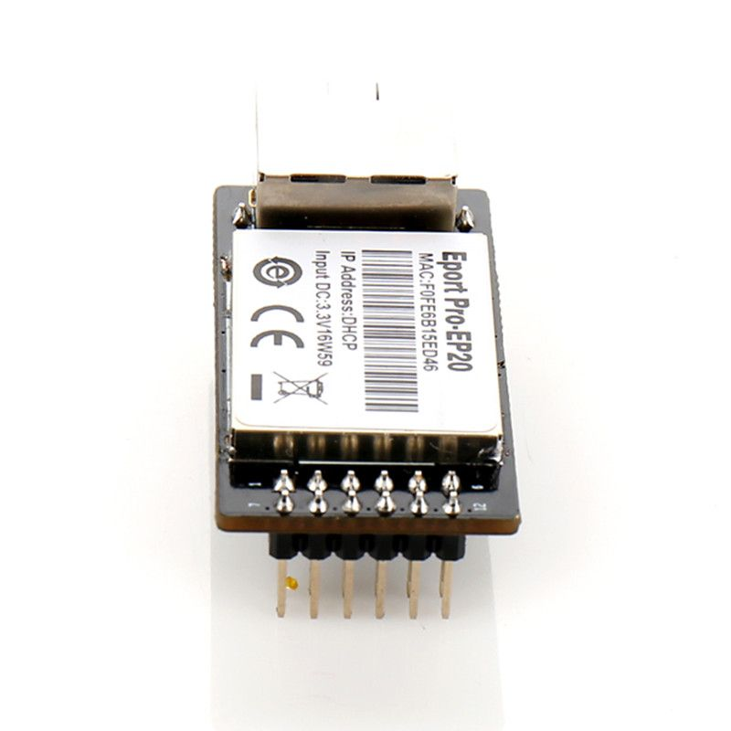 CEANDDEAR eport Pro-EP20 Linux Servidor Red Red Series TTL and Ethernet Module Integrado DHCP 3.3 V TCP IP Telnet Wifi Modules