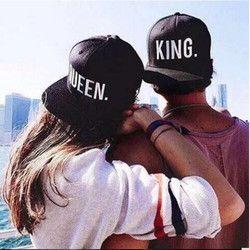 1 шт. Король Королева вышитые snapback Кепки S Lover Для мужчин Для женщин Бейсбол Кепки черный хип-хоп Кепки Snapback шляпы, вводная Bone masculino