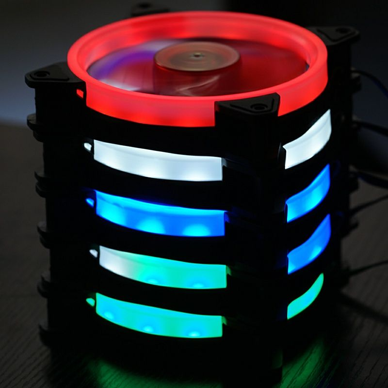 FormulaMod PMW chassis fan Water cooling radiator fan hydraulic bearing mute for 120mm 12CM 800-1600RPM LED Lighting Ring
