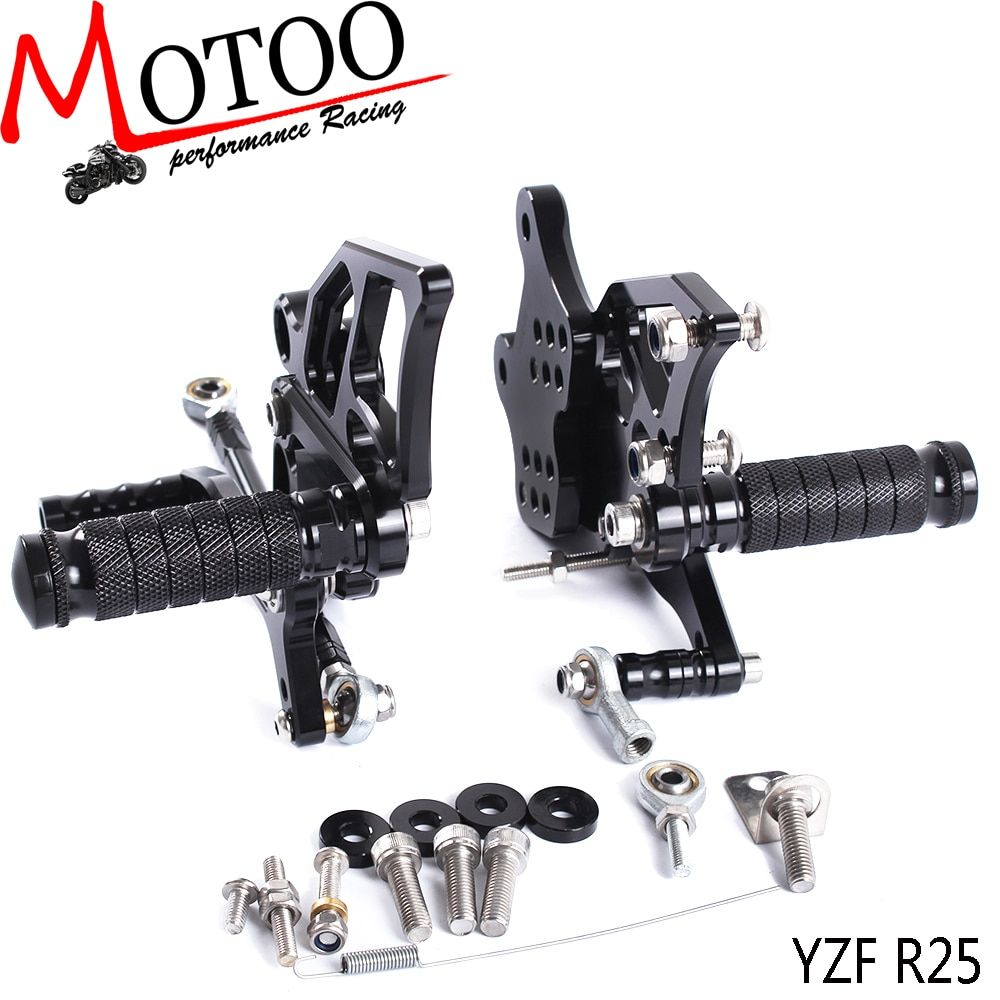 Motoo - Full CNC aluminum Motorcycle Rearset Rear Set For YAMAHA YZF-R3 R25 2015-2016