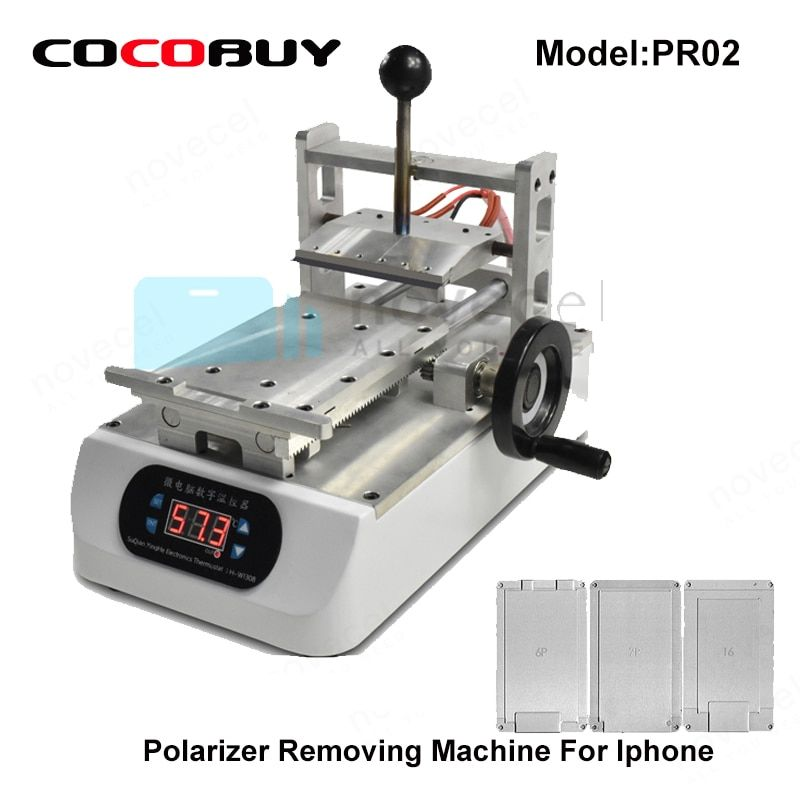 Novecel LCD Polarizer Removing Machine with three moulds for Iphone lcd repair electric tools