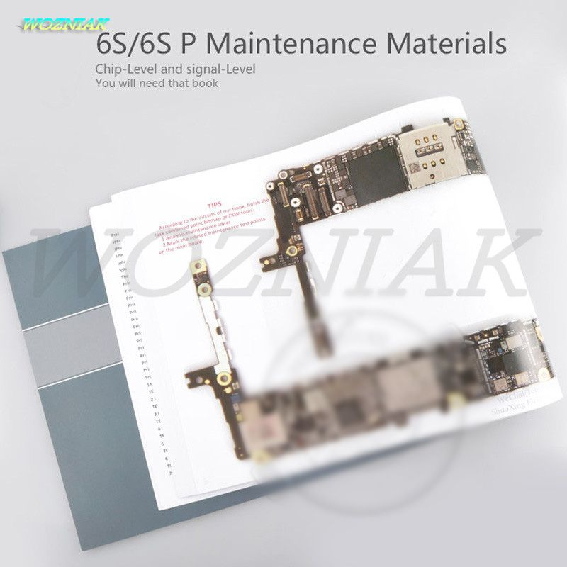 Wozniak Color teaching books for iphone 6S Plus 6SP Maintenance Materials5 teach of fix Professional maintenance drawings