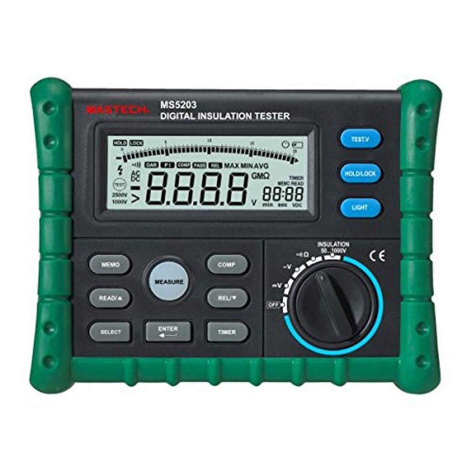 PEAKMETER MS5203 insulation resistance meters digital megger meter earth impedance tester megohmmeter digital analog multimeter