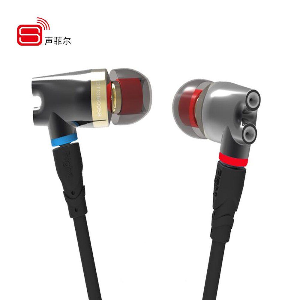 SENFER DT2 Plus Pro Updated Dynamic With 2BA + DD Hybrid Driver In Ear Earphone Ceramic IE800 HIFI Earplhone With MMCX Interface