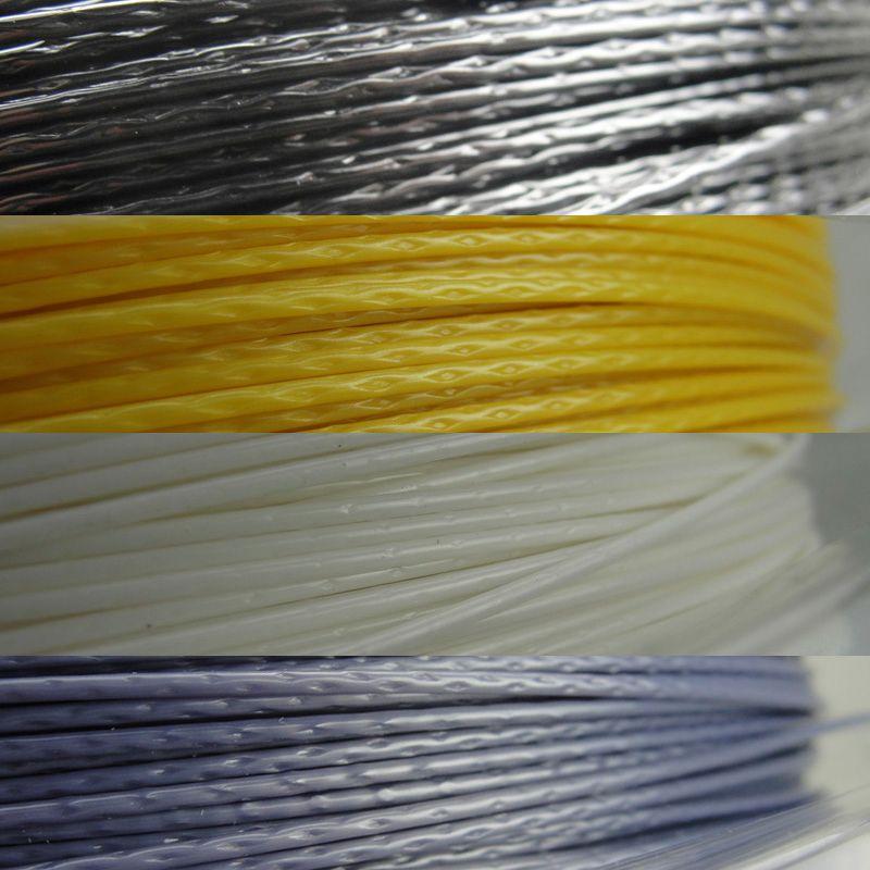 Cordes de raquette de Tennis Polyester Alu puissance rugueuse 125 200 m/bobine 4 couleurs