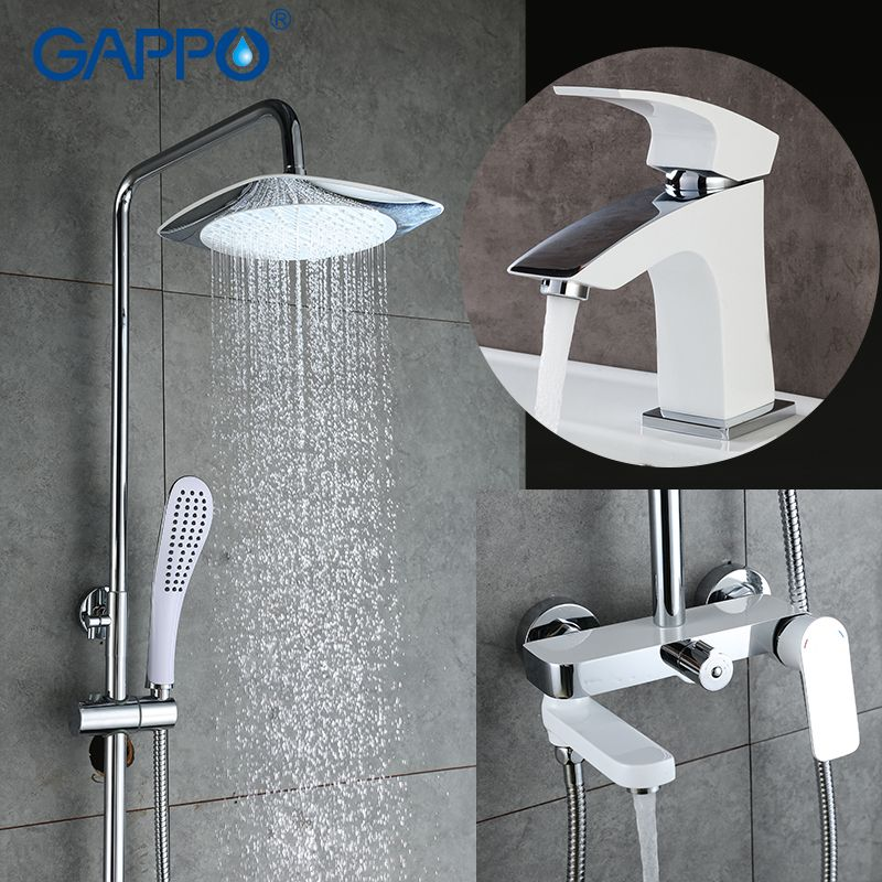 GAPPO bath faucet overhead rain shower mixer water tap bathroom basin bathroom sink faucet shower ceiling shower system