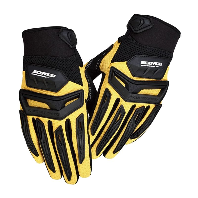 SCOYCO Motorcycle Motorbike Bike Riding Gloves Motorcross Off-Road Racing Gloves Rubber Protection Breathable Gloves MX54