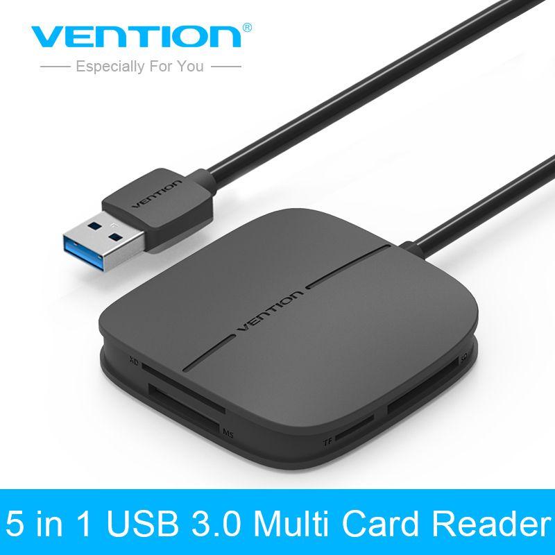 Convention Tout en 1 USB 3.0 Lecteur de Carte Multi Lecteur de Carte Mémoire USB pour TF pour SD pour Carte CF pour MS Adaptateur Soutien 256G