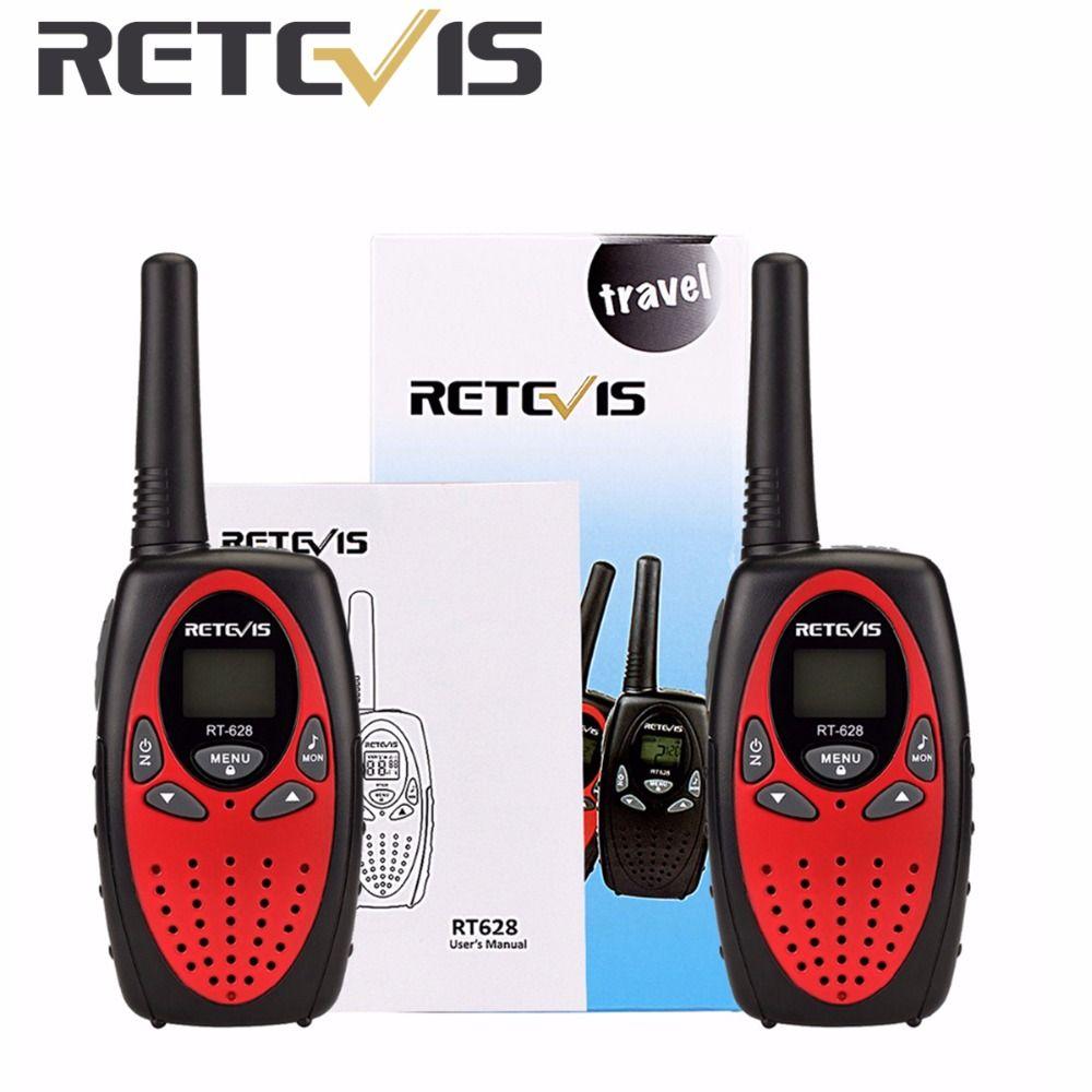 2pcs Retevis RT628 Kids Walkie Talkie Mini Radio 8CH 0.5W UHF 446MHZ Children cb Portable Toy Radio Communicator A1026