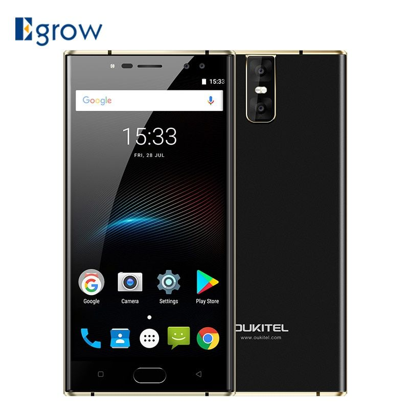 Oukitel K3 16MP+2MP 4 Cameras Mobile Phone MT6750T Octa Core 4GB+64GB Cell phones 5.5 inch 6000mAh Front Fingerprint Smartphone