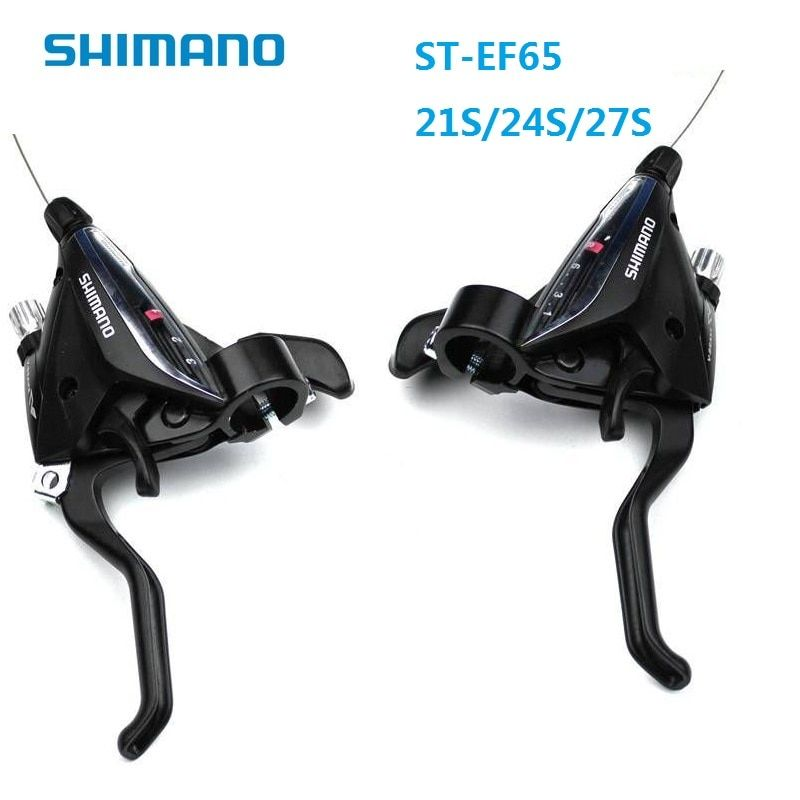 SHIMANO ST EF65 7S 8S 9S Derailleur Conjoined Dip 21S 24S 27S MTB City Bike Brake Shift Lever Bicycle Speed Shift Accessories