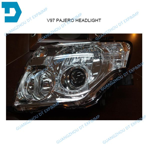 pajero v97 v93 hid hedalight v98 v87 hid head lamp without bulb no ballast 8301a845 8301a046 top version headlight half assy