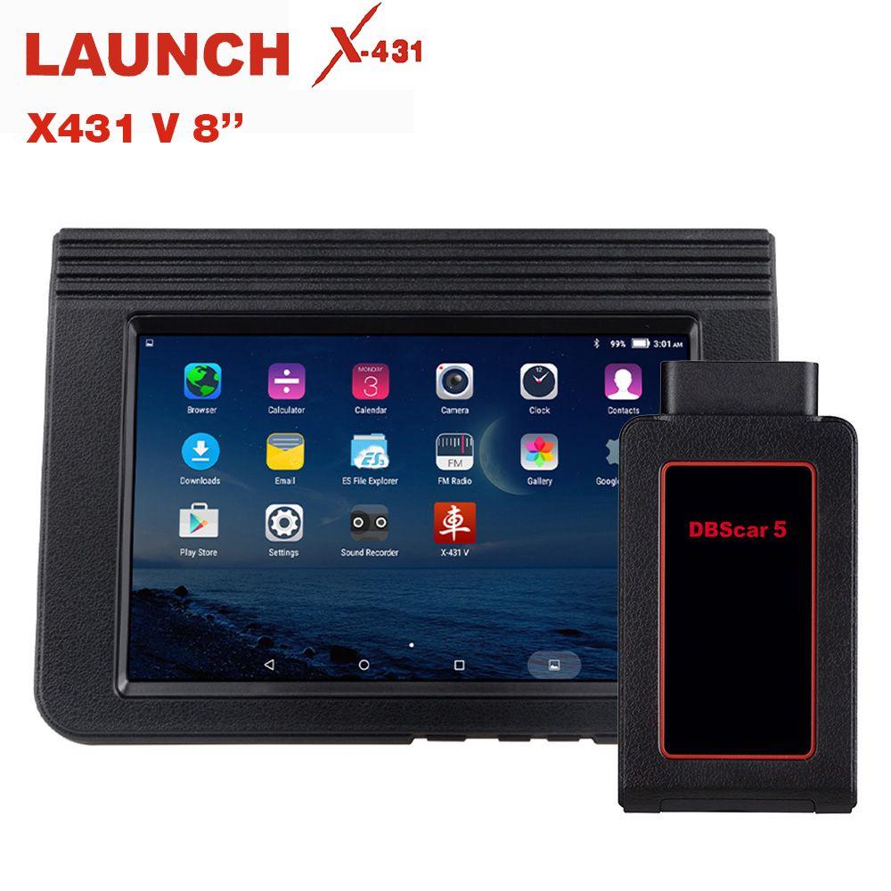 STARTEN X431 V 8 Zoll Bluetooth Wi-Fi Volle System Auto Diagnose werkzeug Unterstützung ECU Codierung X-431 V + Mini Auto scanner OBD2 Scanner