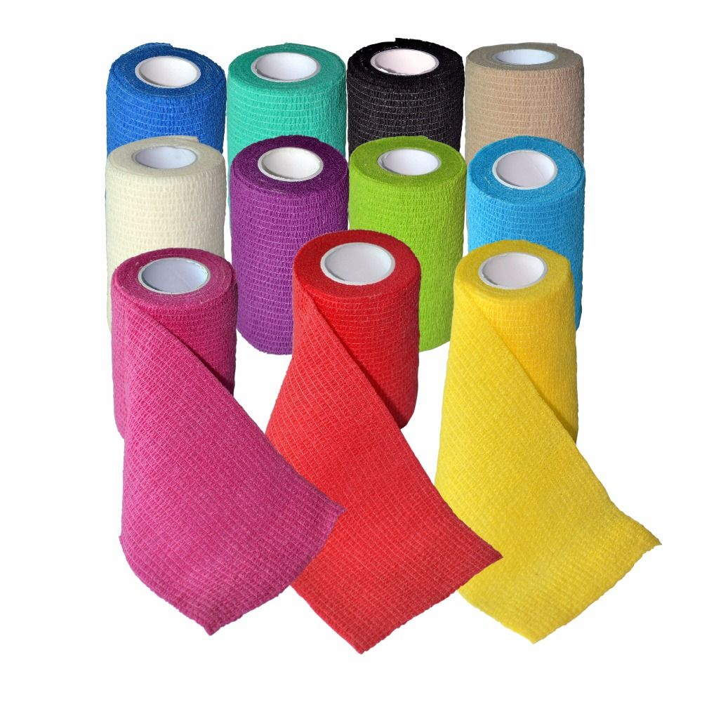 24Pcs/Lot Waterproof Self Adhesive Elastic Bandage Medical First Aid Kit Cohesive Wound Tape For Sports Protection 7.5cm *4.5m