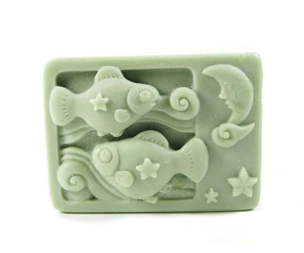 Pisces constellations Mould Craft Art Silicone 3D Soap Mold Craft Molds DIY Handmade Candle Molds S387