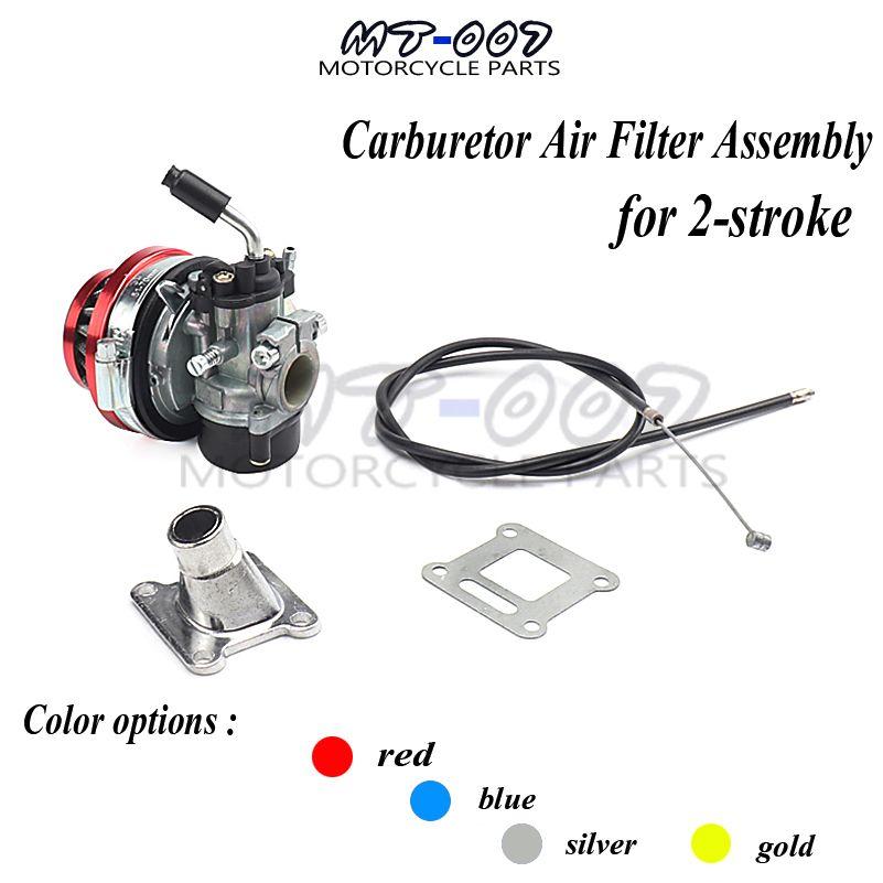 ATV 49cc Performance 19mm Carb Carburetor Air Filter Assembly for 2-stroke 47cc 49 Cc Mini Pocket Bike Group