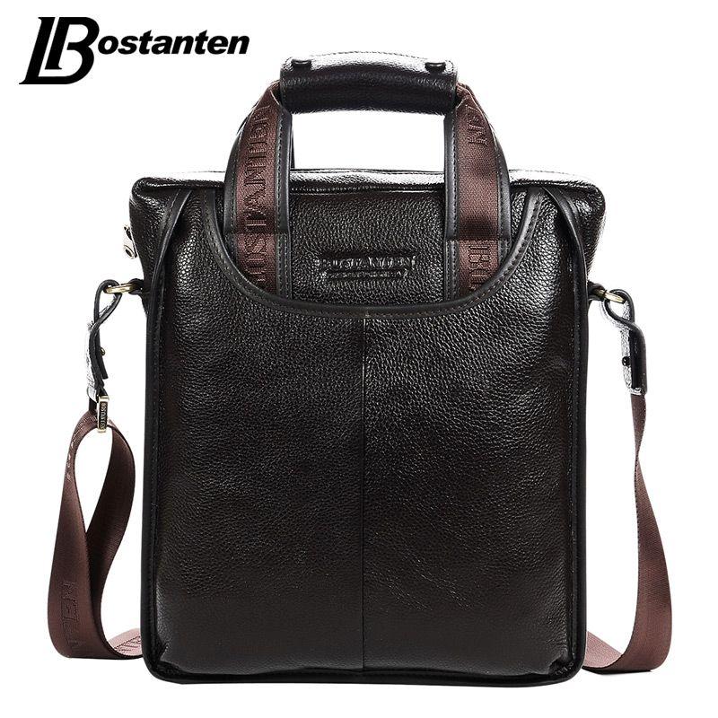 Bostanten 2017 Heißer Verkauf Echtes Leder Business Aktentasche Portable Laptop Handtasche Lässige Purse Sacoche Homme Marque Crossbody