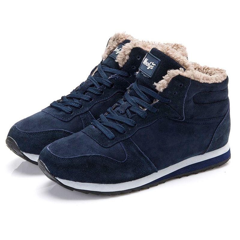 Femmes Bottes Chaussures Femme Chaussures D'hiver Cheville Bottes de Neige Chaussures Bottes Baskets Plus La Taille Noir
