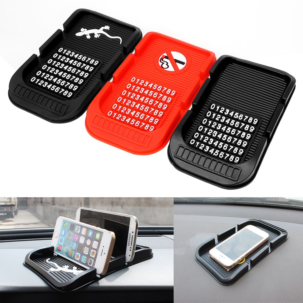 With Numbers Phone Holder Parking GPS Holders For Key Cell Phone iphone Non-slip Pad High Quality Car Dashboard Anti Slip Mat