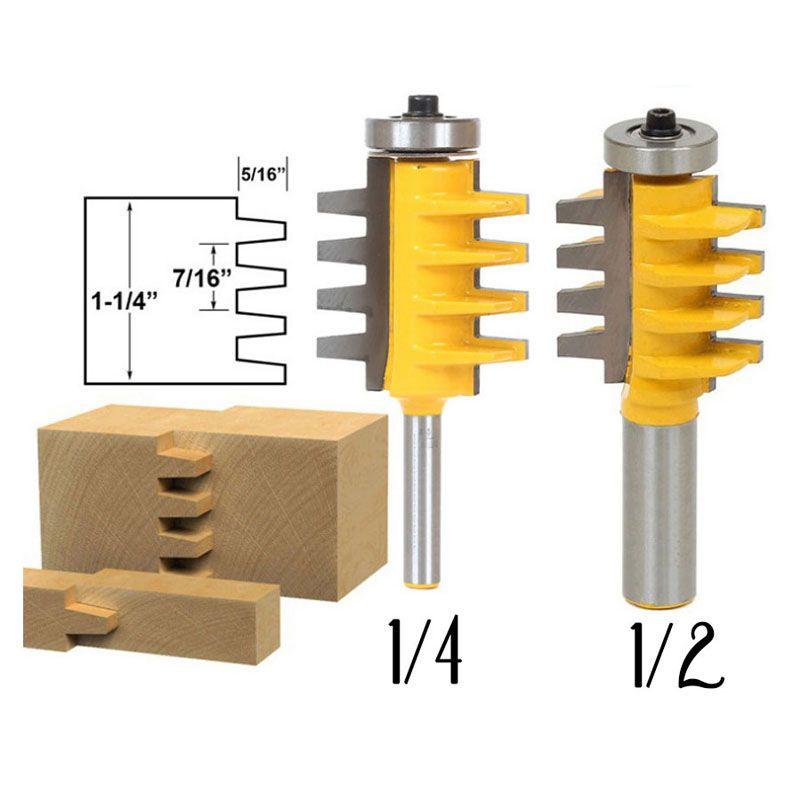 Rail Reversible Finger Joint Glue <font><b>Router</b></font> Bit Cone Tenon Woodwork Cutter Power Tools-1/2, 1/4 ,8mm Shank