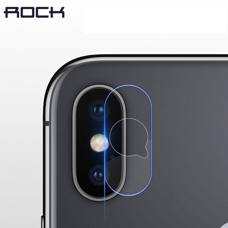 2 stücke 0,15 MM Kamera Len Film Gehärtetem Glas für iPhone X Kamera, ROCK Glasschutz für iPhone X Kameralinse 2 Packs