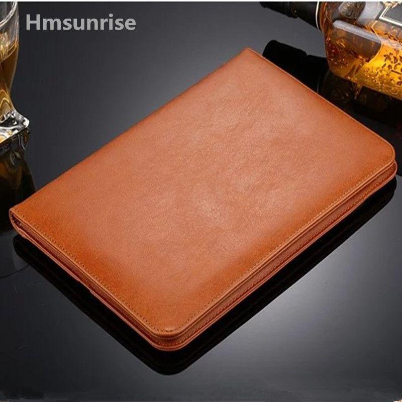 Hmsunrise pour ipad étui en cuir de luxe pour Apple ipad air 2 housse de tablette pour ipad air 1 avec réveil/sommeil automatique 9.7 pouces