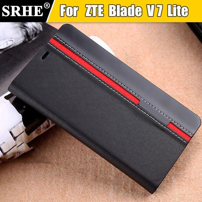 ZTE Lame V7 Lite Cas Flip En Cuir De Luxe De Mode Stand Shell Cas de couverture Pour ZTE Blade V7 Lite Avec Téléphone Titulaire de Mélange couleur