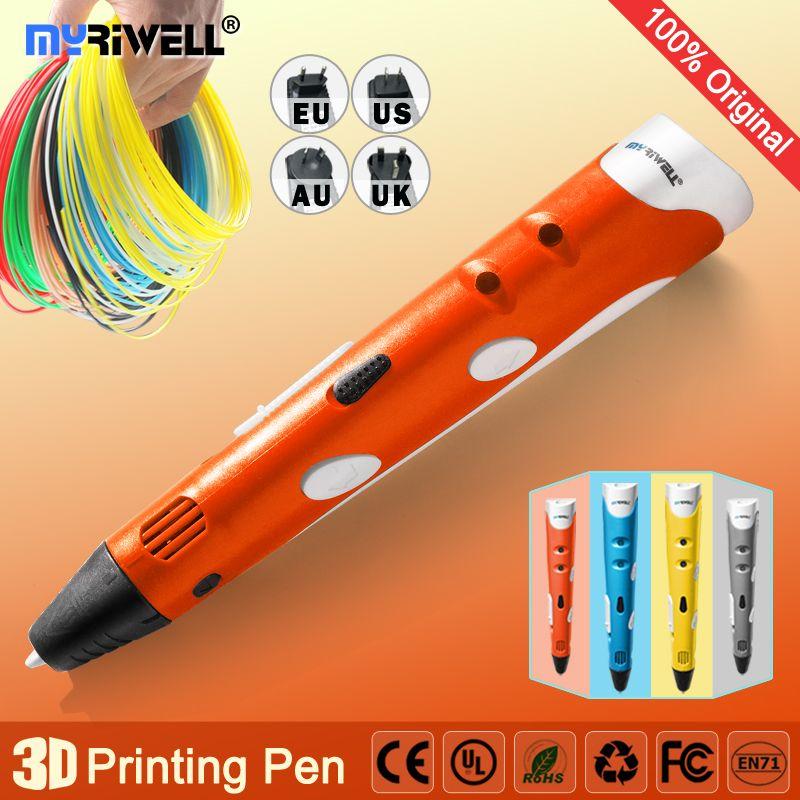 Myriwell 3d stylo 3d stylos, 1.75mm ABS/PLA Filament, 3d modèle, Creative 3d imprimante pen-3d magic pen, Meilleur Cadeau pour les Enfants, stylo 3 d