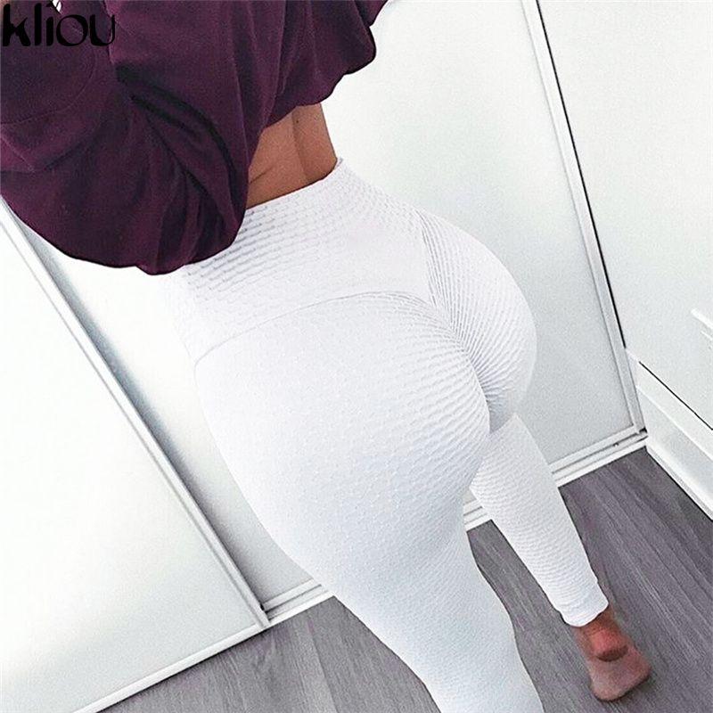 Kliou 2018 taille haute Slim Fitness Leggings femmes noir imprimé entraînement Legging sport aventure temps mode Leggings