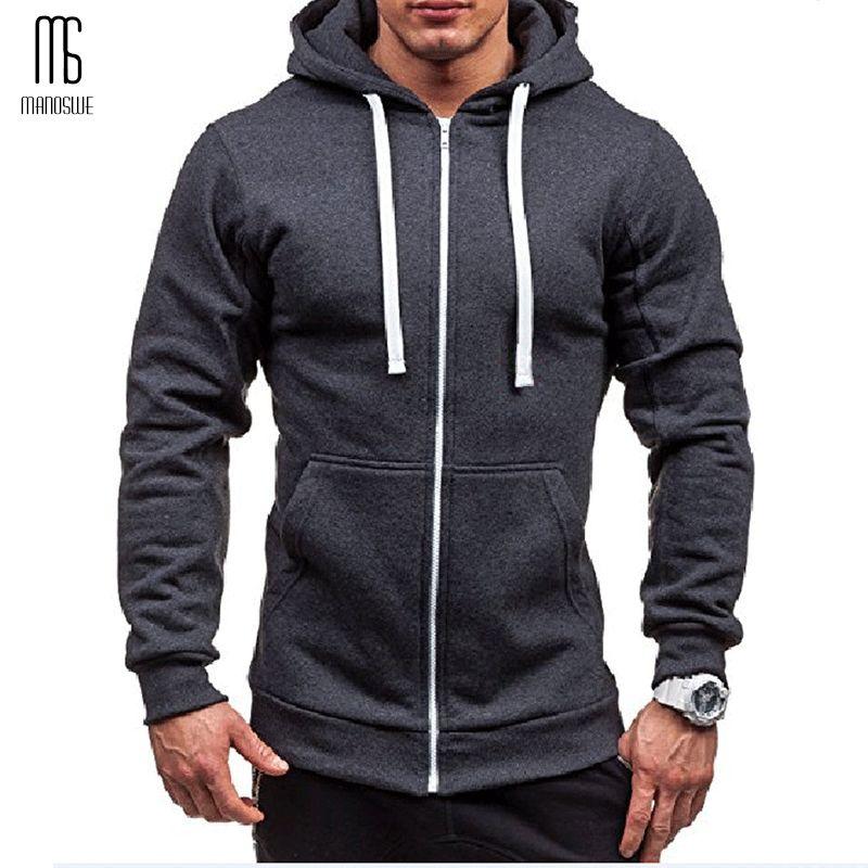 Poche Solide gilet à capuche pour Hommes Zipper Confortable Printemps pull à capuche noir à manches longues Sweat-Shirts veste homme tenue décontracté Vêtements