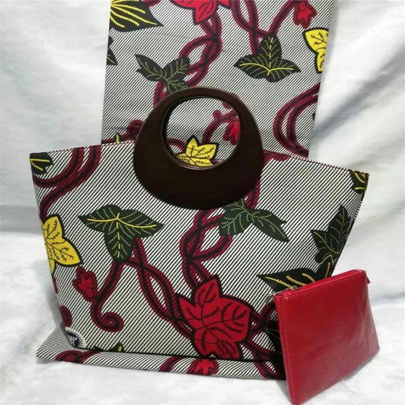 New arrival hollandais wax bag 3 pieces/set,high quality woman handbag 6yards real super wax hollandais dutch wax fabric !SC9151